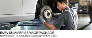 BMW wheel alignment, summer tires, tire balance
