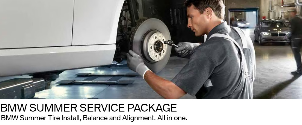 BMW wheel alignment, summer tires, tire balance