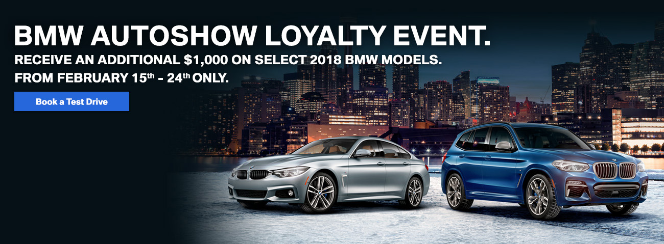 BMW Autoshow new car credit $1000