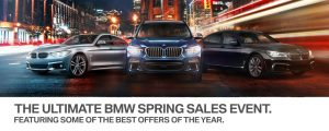 BMW Spring sales event featuring the best offers on new BMW models and BMW demonstrators at BMW Markham