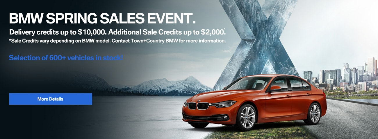 Town+Country BMW Spring Ultimate Sales Event. BMW sale in Markham featuring some of the best offers of the year!