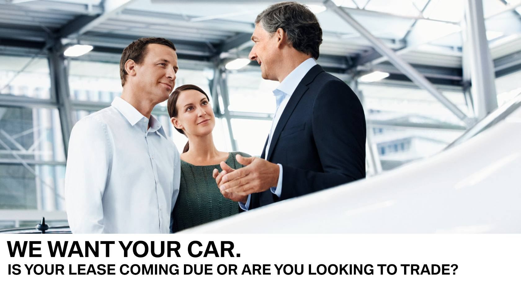 We want your car BMW