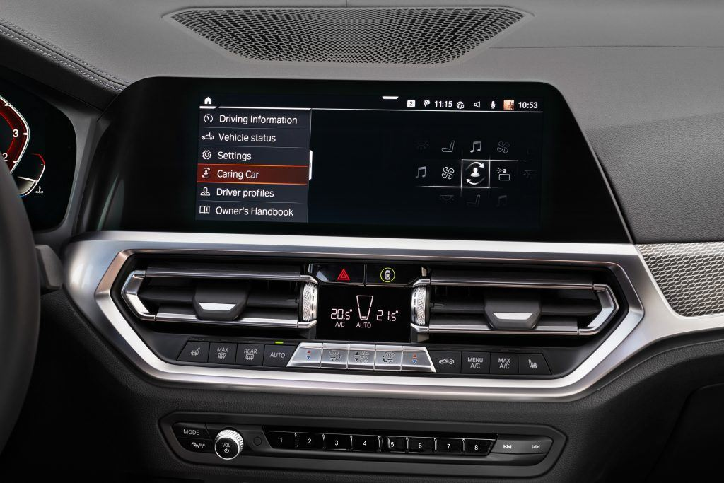 "With Caring Car, your BMW will look after you. If you say; ""Hey, BMW. I'm tired"", or ""I'm feeling stressed"", the BMW Intelligent Personal Assistant will activate the Vitalize or Relax Caring Car Program."