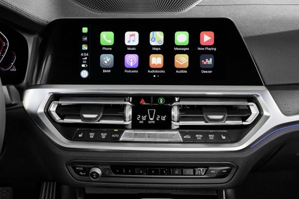 Apple CarPlay gives you remote access to telephony as well as apps like iMessage, Spotify, and Apple Music.