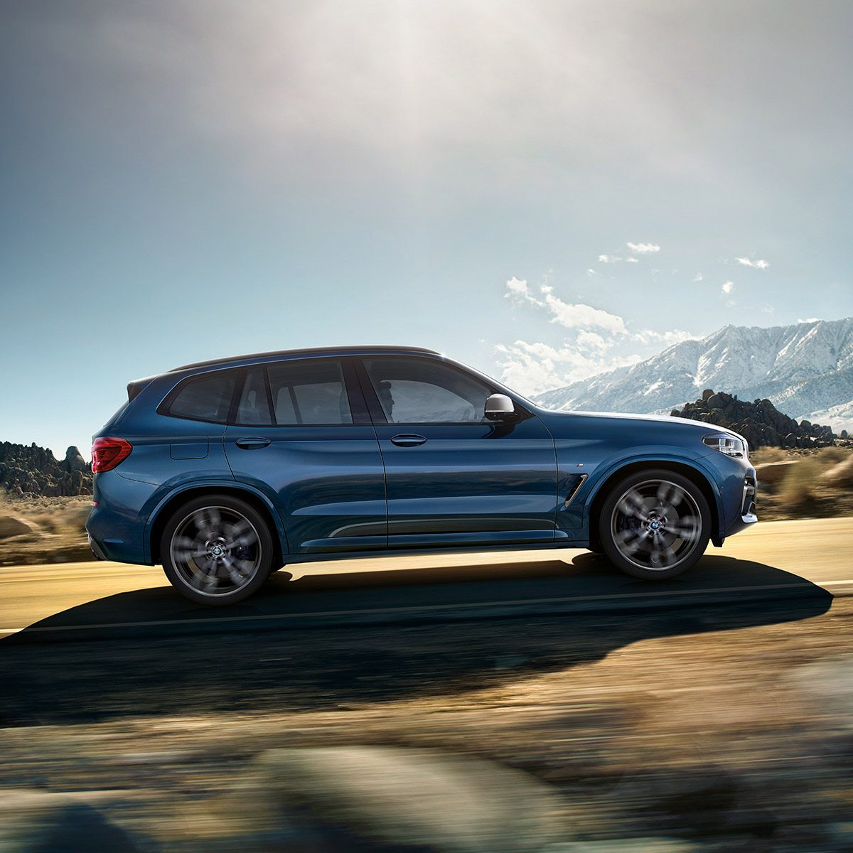 The BMW X3. With standard xDrive All-Wheel Drive.